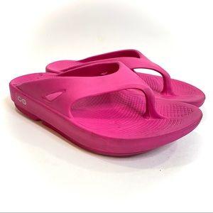 Oofos ooriginal hot pink recovery flip flops/M5 W7/38